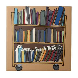 Library Books Ceramic Tiles