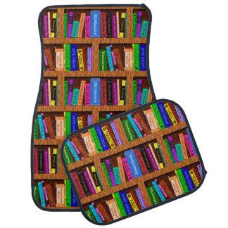 Library Bookshelf Books | Colorful Reading Pattern Car Floor Mat