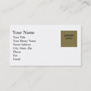 Librarian Business Cards Zazzle