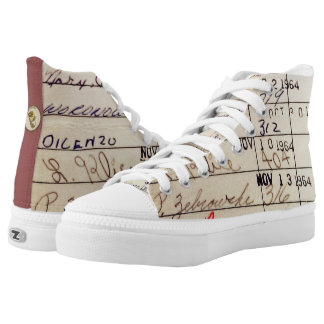 Library Card 23322 High-Top Sneakers