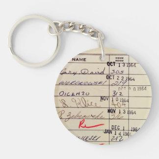 Library Card 23322 Keychain