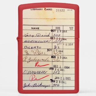 Library Card 23322 Zippo Lighter