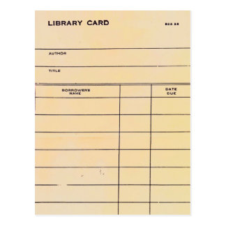 Library Card BSS 28
