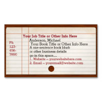 Librarian business cards templates zazzle library card catalog writer author librarian magnetic business cards colourmoves