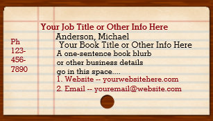 Librarian business cards templates zazzle library card catalog writer author librarian colourmoves
