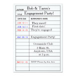"""Library Card"" Engagement Party Invitations 5"" X 7"" Invitation Card"