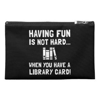 Library Card Fun Travel Accessories Bag
