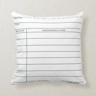 Library Card Pillow