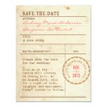 Library Card Save the Date Custom Invitation