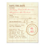 "Library Card Save the Date 4.25"" X 5.5"" Invitation Card"