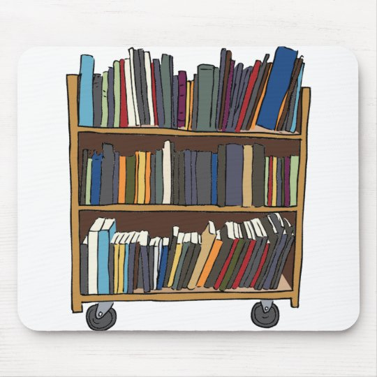 Library Cart Mouse Pad