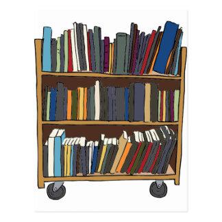 Library Cart Postcard