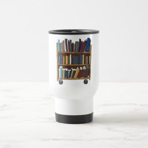 Library Cart Travel Mug