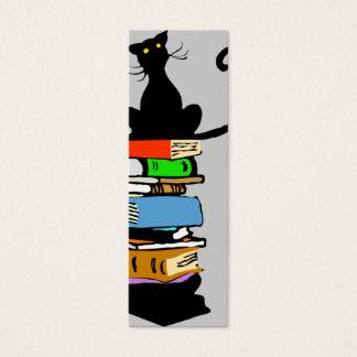Library Cat (Book Mark) Mini Business Card