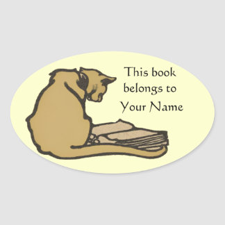 Library Cat Bookplate