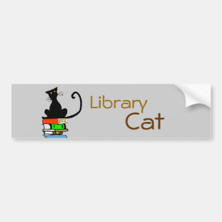 Library Cat Bumper Stickers