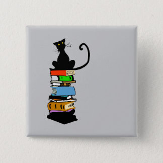 Library Cat Button
