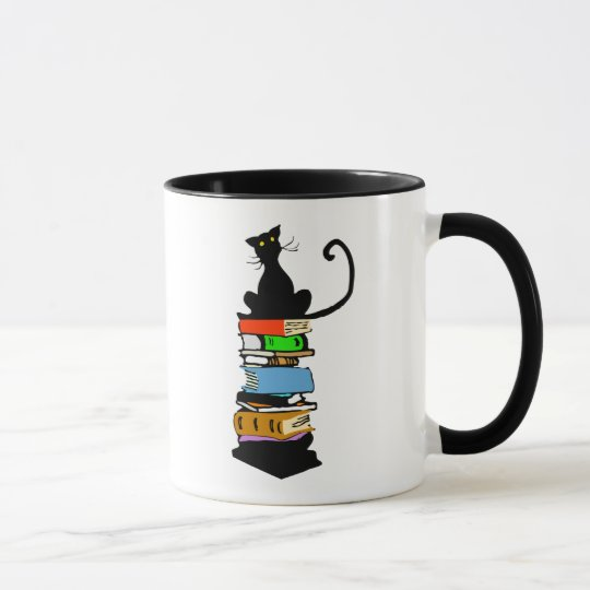 Library Cat Mug