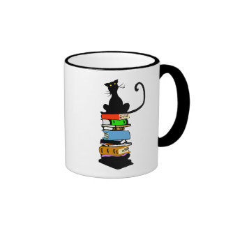 Library Cat Ringer Coffee Mug