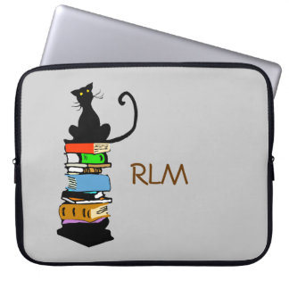Library Cat, Personalized Computer Sleeve
