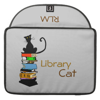 Library Cat, Personalized MacBook Pro Sleeves