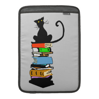 Library Cat, Personalized MacBook Sleeve