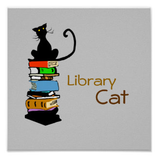 Library Cat Print