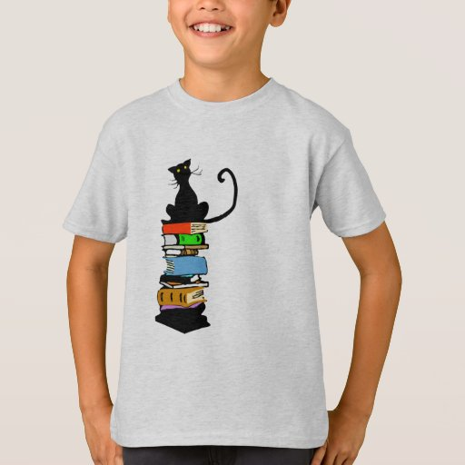 Library Cat T-Shirt