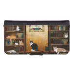 Library cats iPhone SE/5/5s wallet