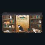 "Library cats iPhone SE/5/5s wallet<br><div class=""desc"">Literary or library kitty cats with multiple cats on the bookshelves ready to read,  learn or maybe just keep you from reading cat lovers cell phone wallet case.</div>"