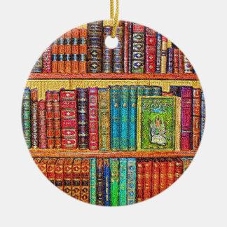 Library Ceramic Ornament