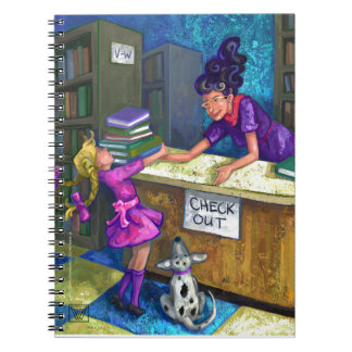 Library Check Out Art Notebook
