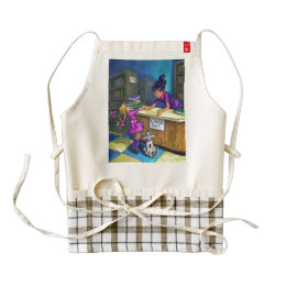 Library Check Out Art Zazzle HEART Apron