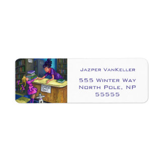 Library Check Out Artwork Return Address Label