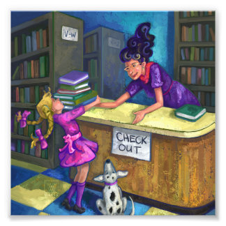 Library Check Out Artwork Photo Print