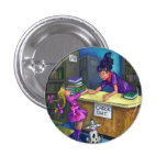 Library Check Out Artwork Pinback Button