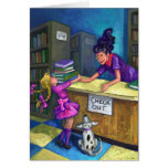 Library Check Out Greeting Card