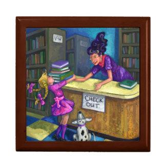 Library Check Out Keepsake Box