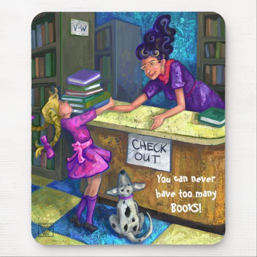 Library Check Out Mousepad