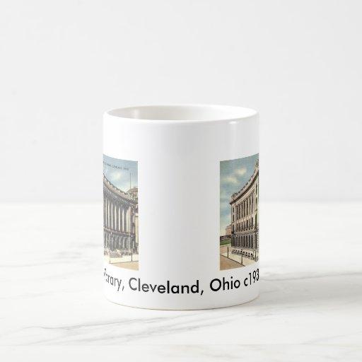 Library, Cleveland, Ohio c1934 Classic White Coffee Mug