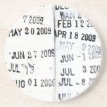 Library Date Stamp Coaster