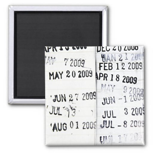 Library Date Stamp Magnet