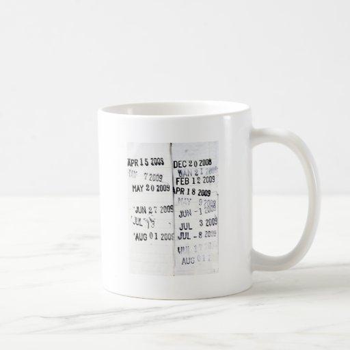 Library Date Stamp Mug
