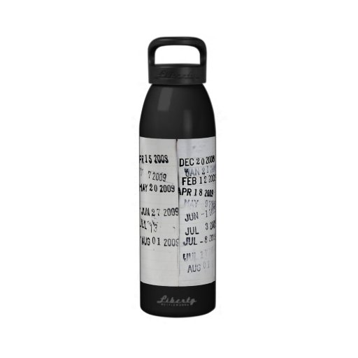 Library Date Stamps Liberty Bottle Reusable Water Bottle
