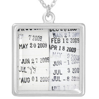 Library Date Stamps Necklace