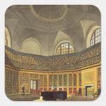 Library del rey, casa de Buckingham, del 'hola Pegatina Cuadrada