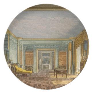 Library del rey de vistas del Pavilio real Platos Para Fiestas