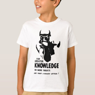 Library Digital Art T-Shirt