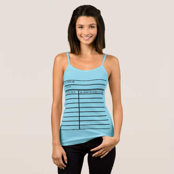 Library Due Date Card - Personalize It! Tank Top