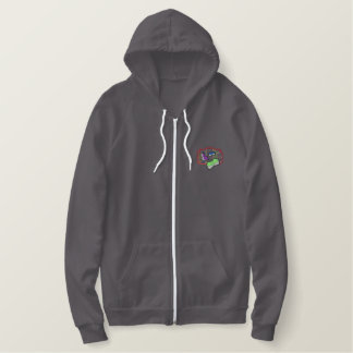 Library Embroidered Hoodie